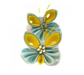 """Бантик 091 """"Мятные бабочки"""" - пара"""