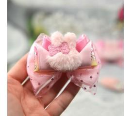 """Бантик 022 """"Розовые зайчата""""- комплект"""