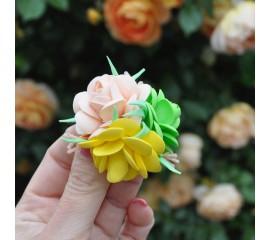 """Бантик 174 """"Желтые розы"""" пара"""
