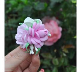 """Бантик 138 """"Розовые розы""""- пара"""