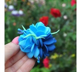 """Бантик 104 """" Голубые розы"""" - пара"""