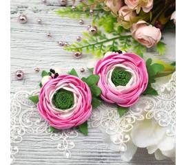 """Бантик 052 """"Весенние цветы""""- пара"""