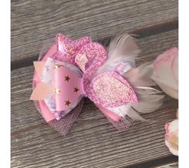 """Бантик 159 """"Розовый фламинго"""""""