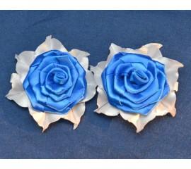 """Бантик 045 """"Синие розы""""- пара"""