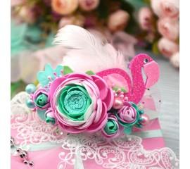 "Ободок 004 ""Фламинго"""